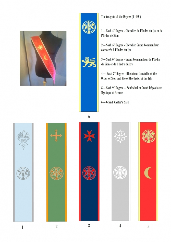 Sashes - Degrees 4° to 10° - Priory of Sion